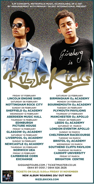 Rizzle Kicks UK Tour