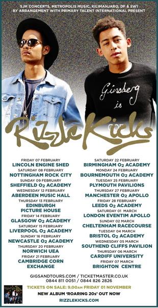 Rizzle Kicks Tour Dates